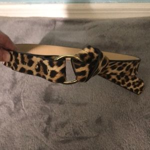 Leopard print statement belt